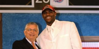 David Stern and LeBron James Draft