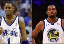 Tracy McGrady and Kevin Durant